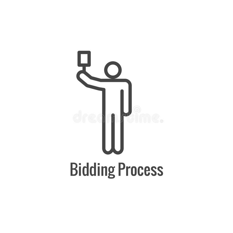 New Business Process Icon | Bidding procedure phase stock illustration