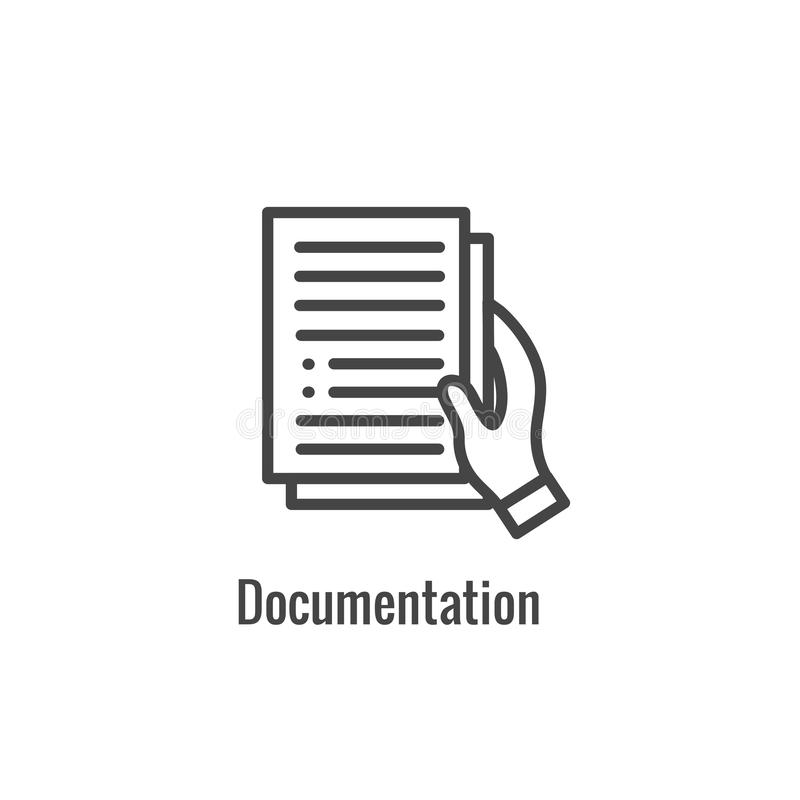 New Business Process Icon - Documentation phase royalty free illustration