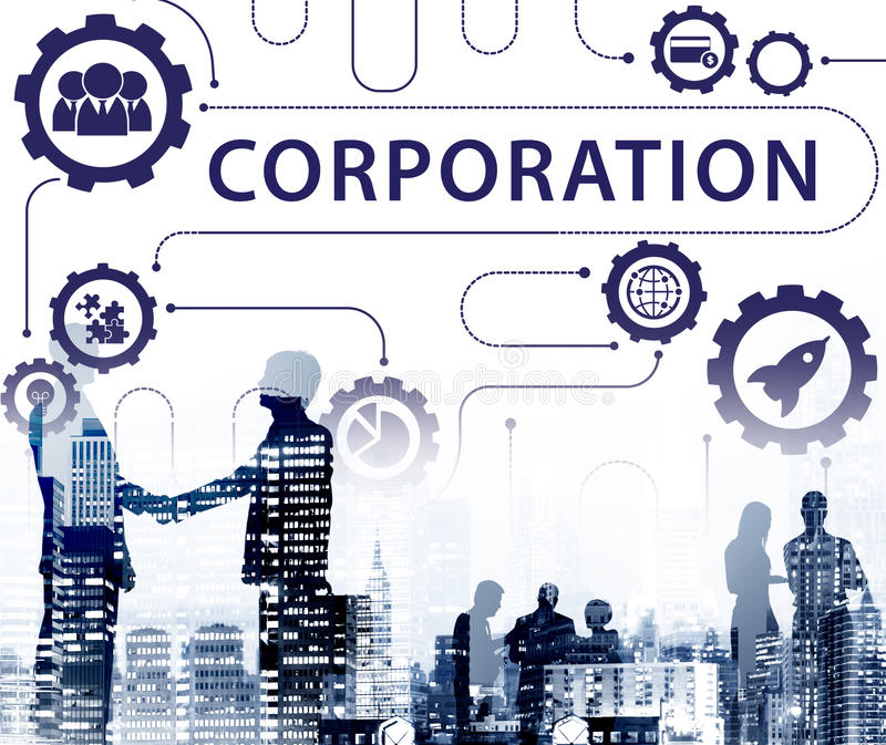 New Business Startup Graphics Concept. New Business Corporation Startup Graphics Concept royalty free illustration