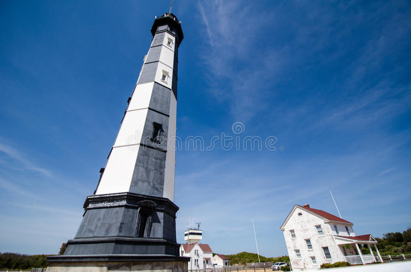 New Cape Henry Lighthouse. Photo of the new Cape Henry Lighthouse in Fort Story, Virginia Beach, Virginia stock photos