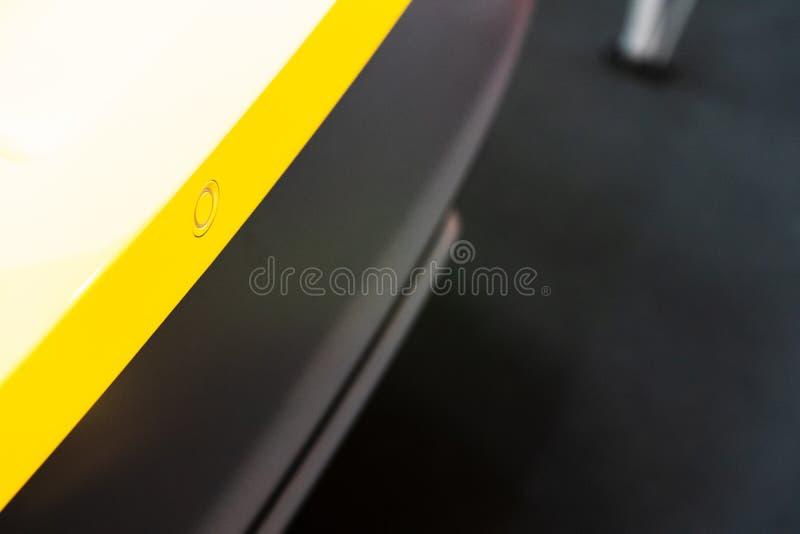 New car Automobile Damaged reversing sensors close up.  royalty free stock photos