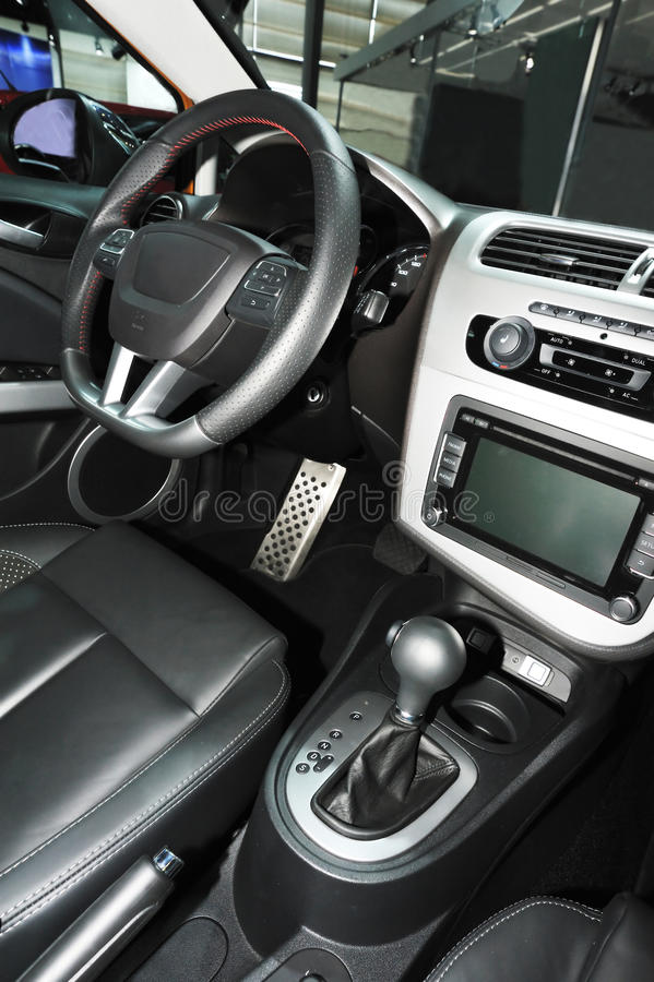 Download New car interior stock photo. Image of equipment, buttons - 25745818