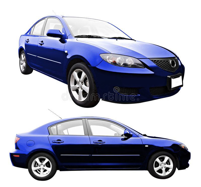 New Car Isolated royalty free stock images