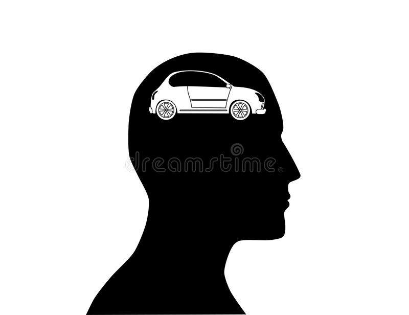 new car in mind stock photography