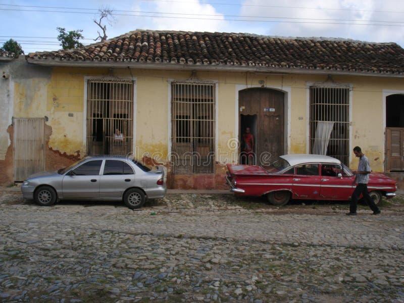 Download NEW CAR OLD CAR stock photo. Image of doorway, street, trinidad - 609968