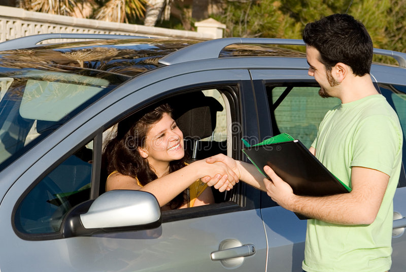 New car or passing driving test stock images