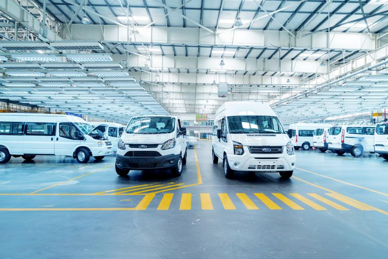 New car is ready to leave the factory. JIANGXI CHINA-September 4,2017:Located in the automobile production plant in Jiangxi, a number of new cars are ready to royalty free stock photos