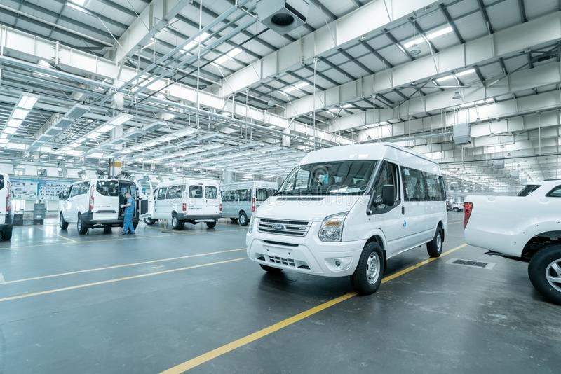 New car is ready to leave the factory. JIANGXI CHINA-September 4,2017:Located in the automobile production plant in Jiangxi, a number of new cars are ready to royalty free stock images