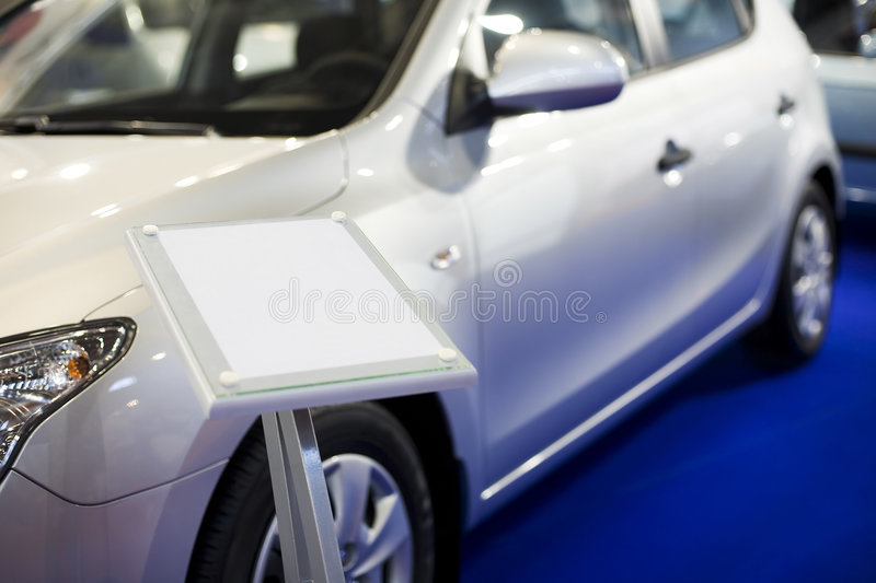 New car on sale royalty free stock photography