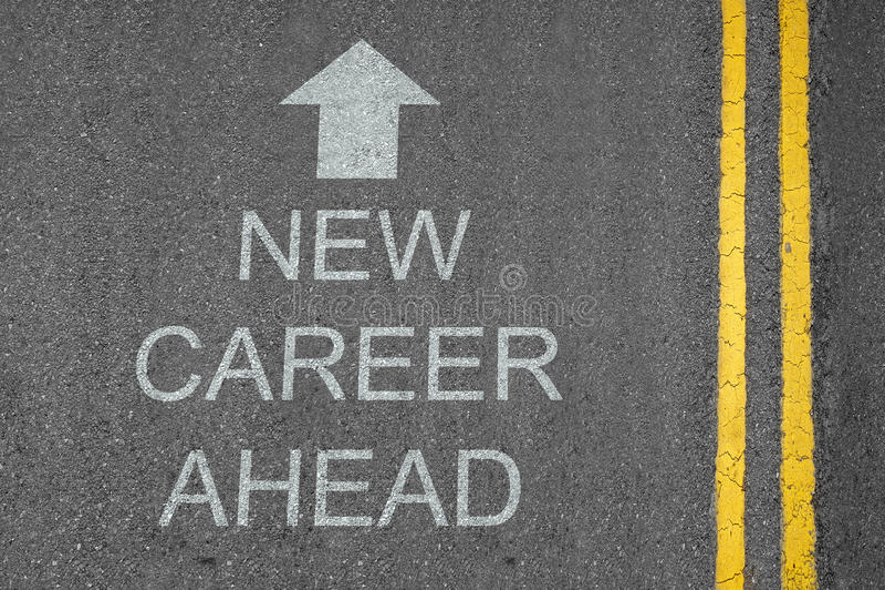 New Career Ahead Arrow royalty free stock photo
