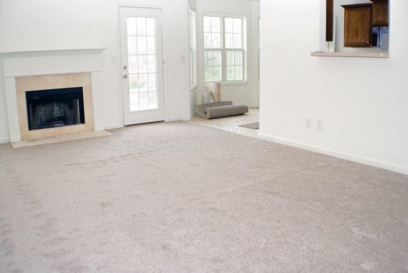New carpet and vinyl install royalty free stock photo