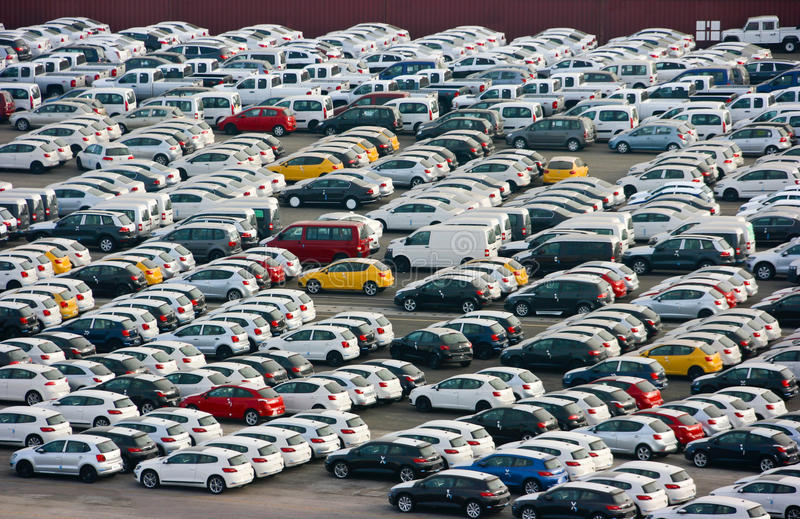 New cars stock image
