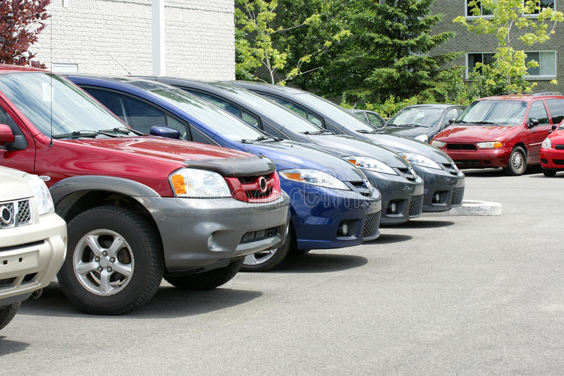 New Cars For Sale Stock Photography