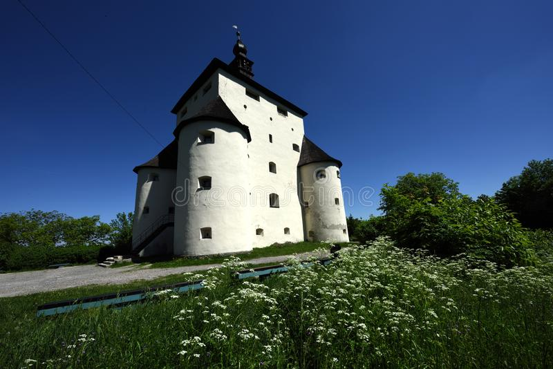 New Castle, Banska Stiavnica, Slovakia, UNESCO. Historic renaissance building of new castle in mining town Banska Stiavnica in Slovakia - UNESCO royalty free stock photos