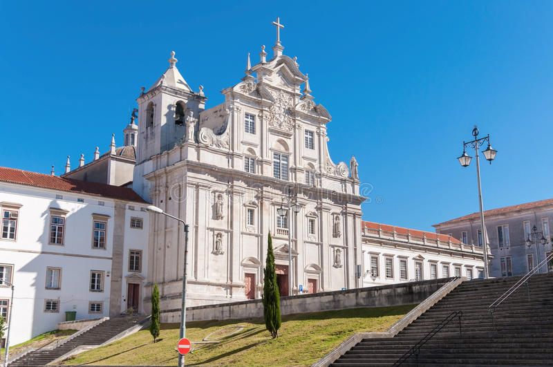 The New Cathedral of Coimbra. (Se Nova de Coimbra) in Portugal stock images