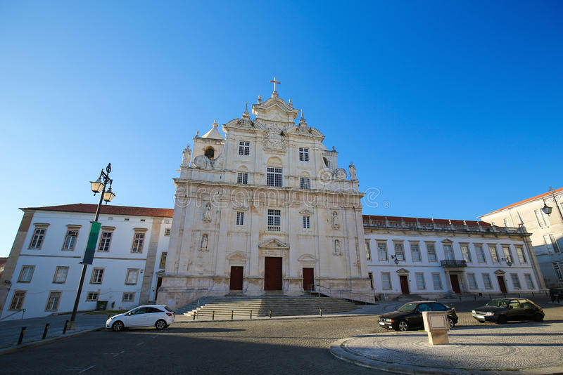 New Cathedral of Coimbra. New Cathedral or Se Nova of Coimbra or the Cathedral of the Holy name of Jesus in Portugal royalty free stock image