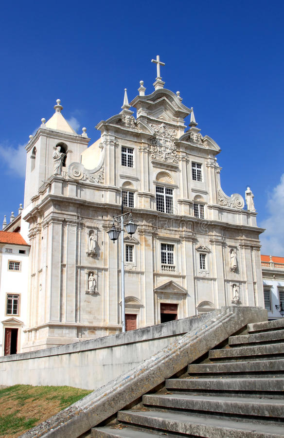 New Cathedral of the Portuguese city of Coimbra. The New Cathedral of Coimbra, the Se Nova de Coimbra, is the current bishopric seat of the city of Coimbra, in royalty free stock photography