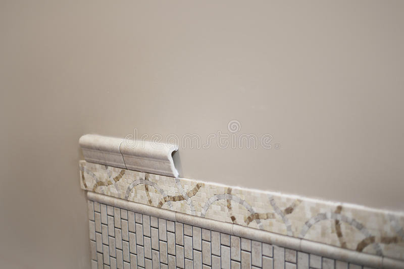 New Ceramic Tile Being Installed stock photos
