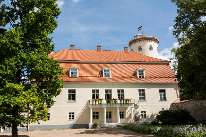 New Cesis Castle. Typical eclectic Castle Manor in Europe, Cesis New Castle royalty free stock image