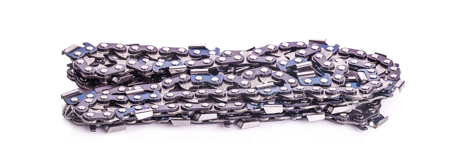 New Chainsaw Chain isolated in studio - High Res.  stock image