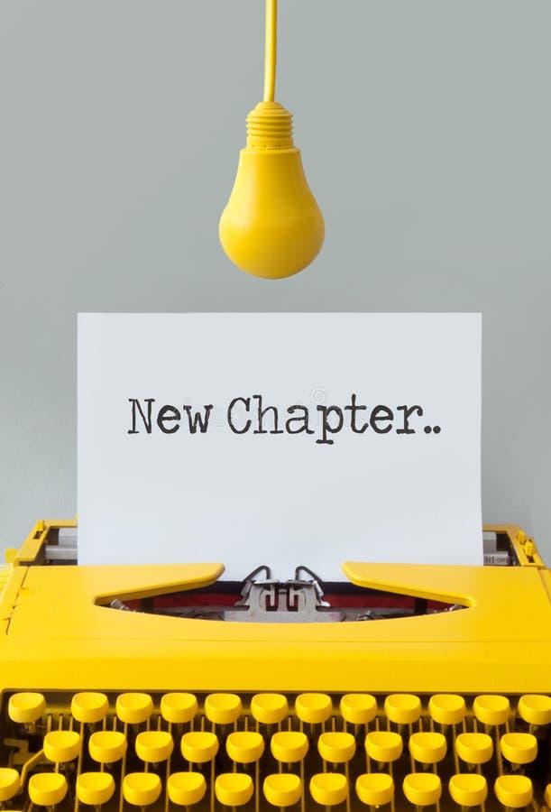 New chapter typewriter closeup royalty free stock photo