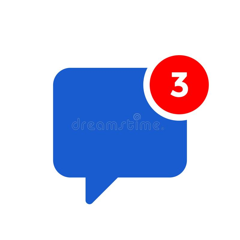 New chat message notification vector icon royalty free illustration