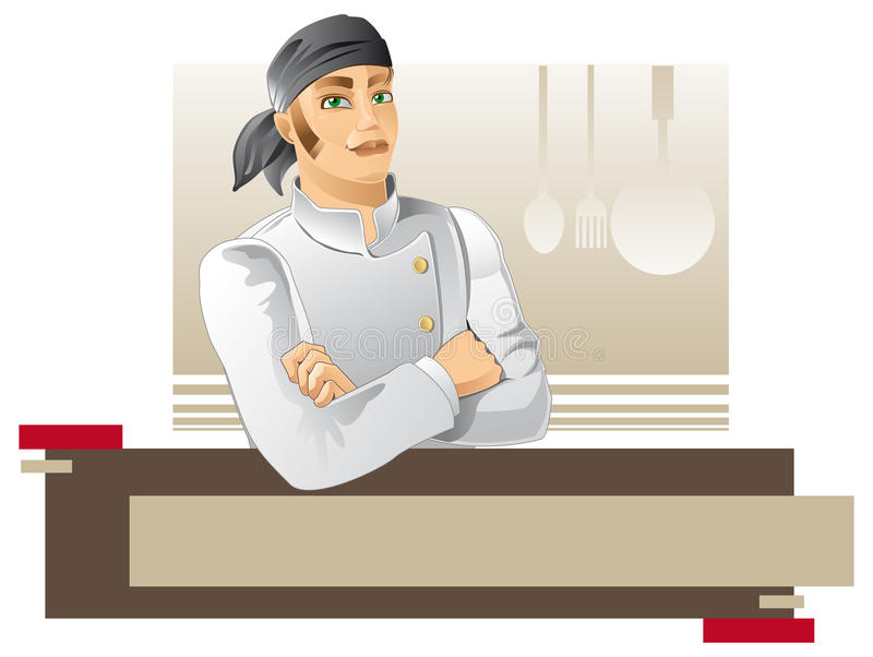 Download New chef stock illustration. Image of proud, chef, kitchen - 18740420