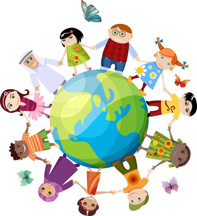 New children set vector illustration