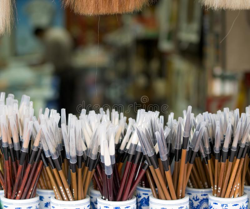 Download New Chinese Paint Brushes stock photo. Image of material - 8609524
