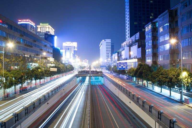 New chunxi road night scene. In chengdu china stock photography