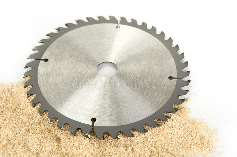New circular saw blades for wood or plastic. royalty free stock photo