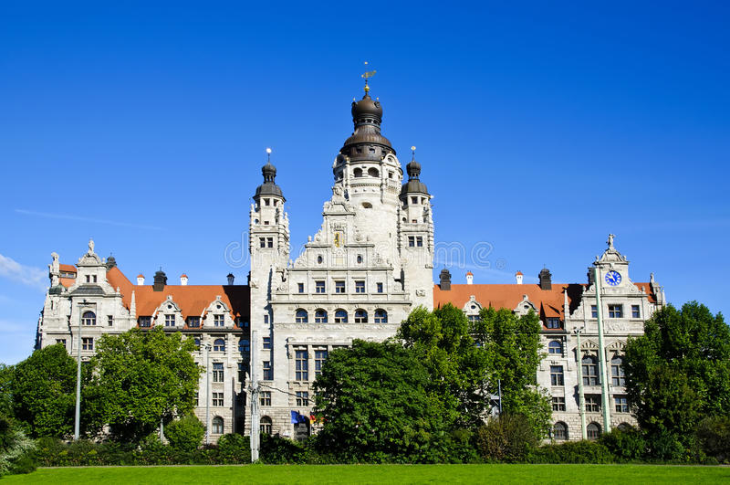 Download New city hall in Leipzig stock image. Image of city, landscape - 16260989