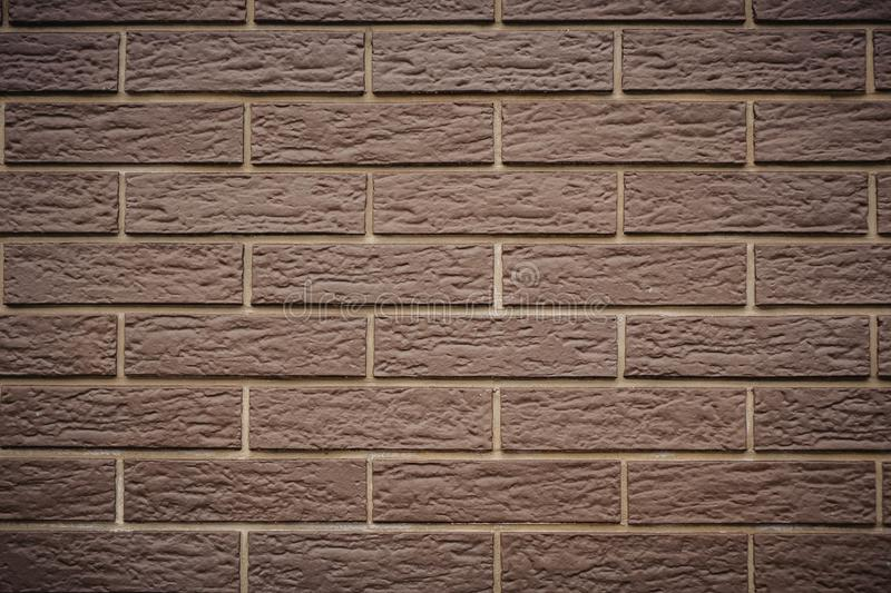 new clean brown brick wall brown background texture royalty free stock photo