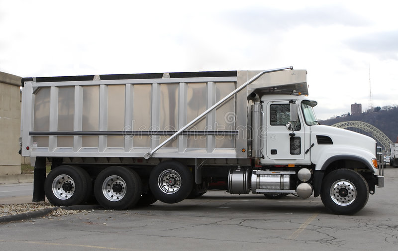 Download New Clean Dump Truck stock image. Image of trailer, shiny - 505369
