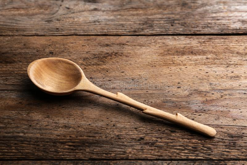 New clean empty spoon stock photography