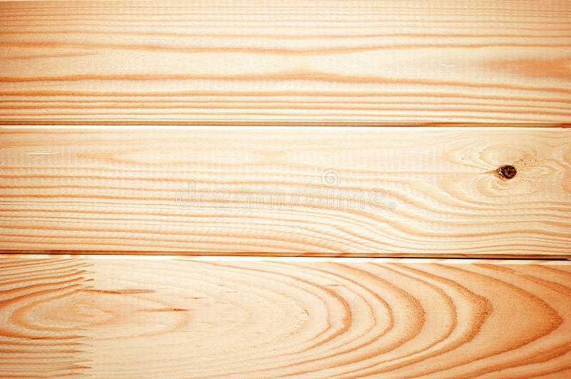 New Clean Planks Of Spruce And Pine Wood Stock Image
