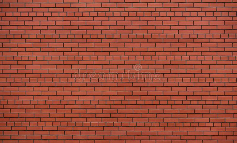 New and clean red brick wall royalty free stock photos
