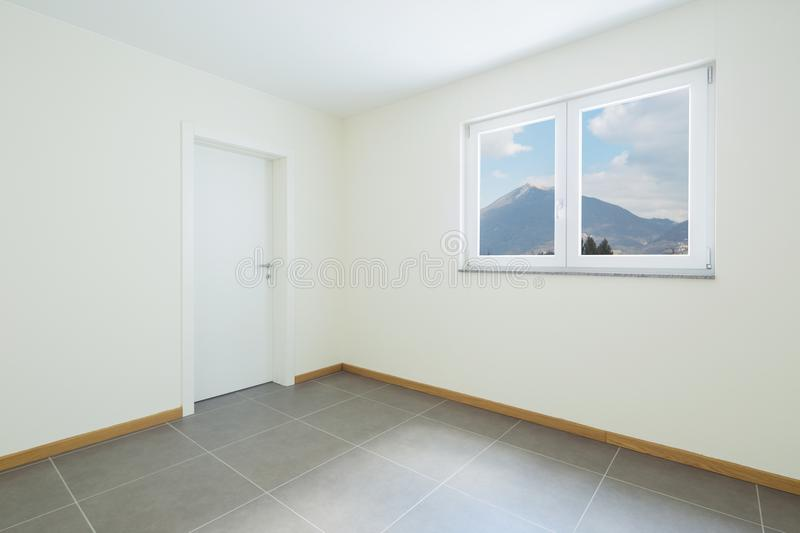 New, clean and empty room just renovated royalty free stock image