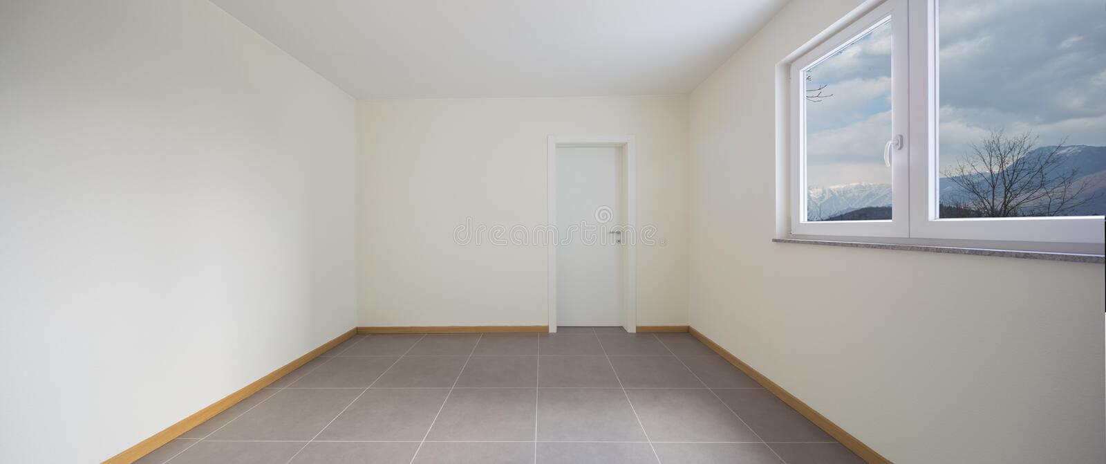 New, clean and empty room just renovated stock photo