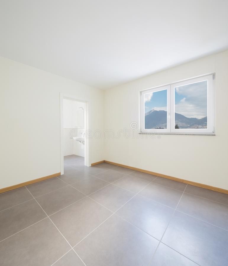 New, clean and empty room just renovated royalty free stock photo