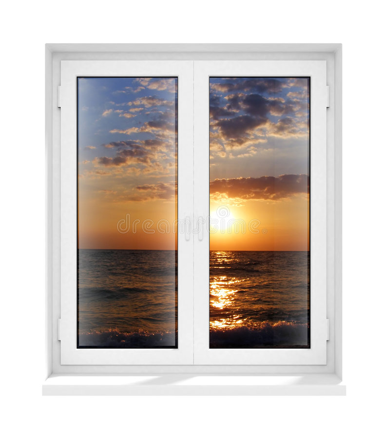 New Closed Plastic Glass Window Frame Isolated Stock Illustration ...