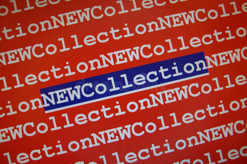 Download New Collection stock illustration. Image of collectionm - 12341459