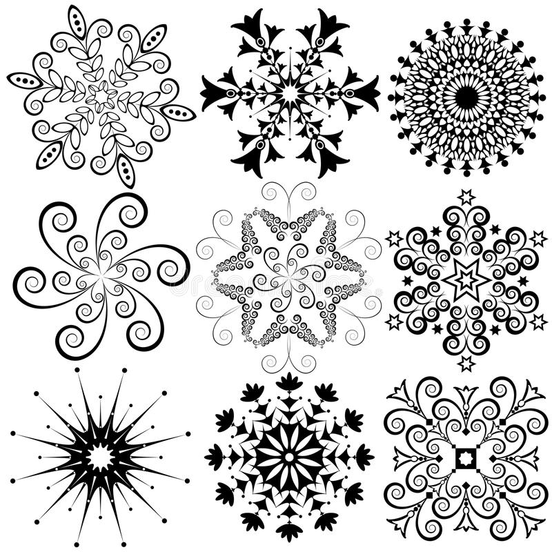 Download New Collection Snowflakes (vector) Stock Vector - Image: 11193850