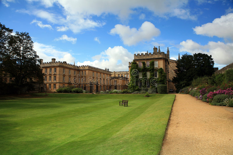 New College, Oxford, Garden Stock Image - Image of learning, lawn ...