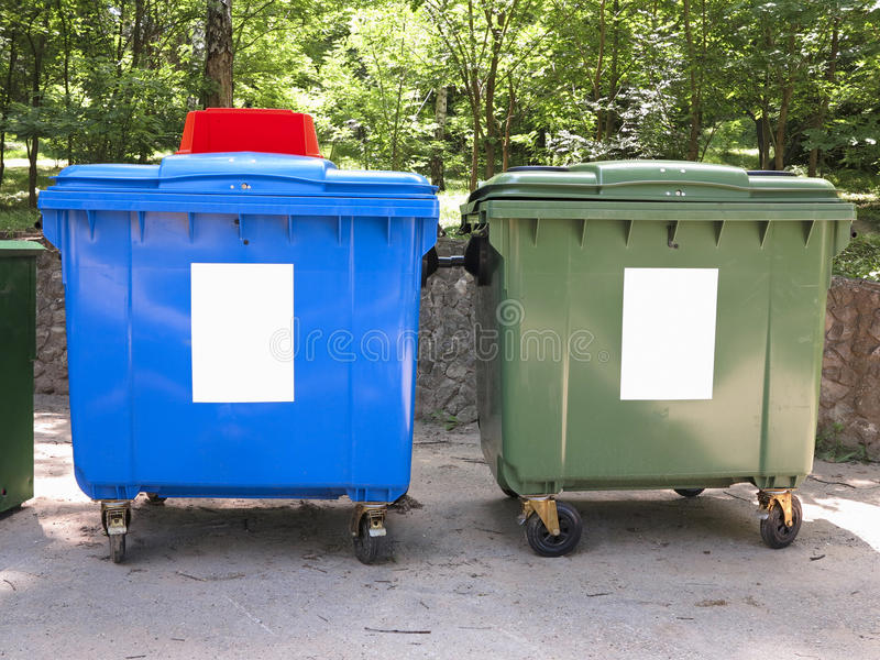Download New Colorful Plastic Garbage Containers Stock Photo - Image: 31882818