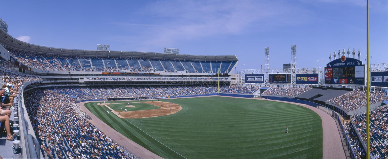 New Comiskey Park, Chicago, White Sox v. Rangers, Illinois royalty free stock photography