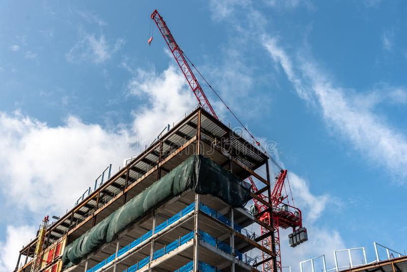 New Commercial building construction in North America stock photo