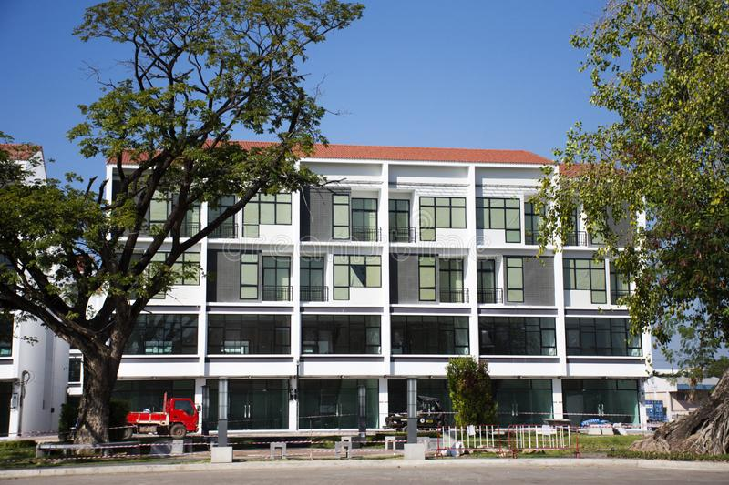 New commercial building for sale at Udonthani city in Udon Thani, Thailand royalty free stock image