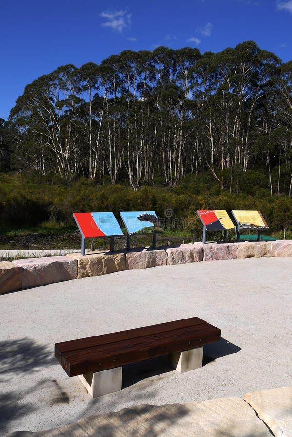 Australia: new community park in bushland royalty free stock image