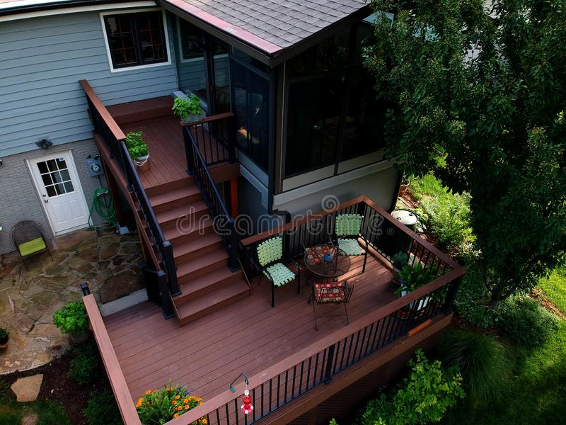 Elevated view of a Remodeled home stock photography